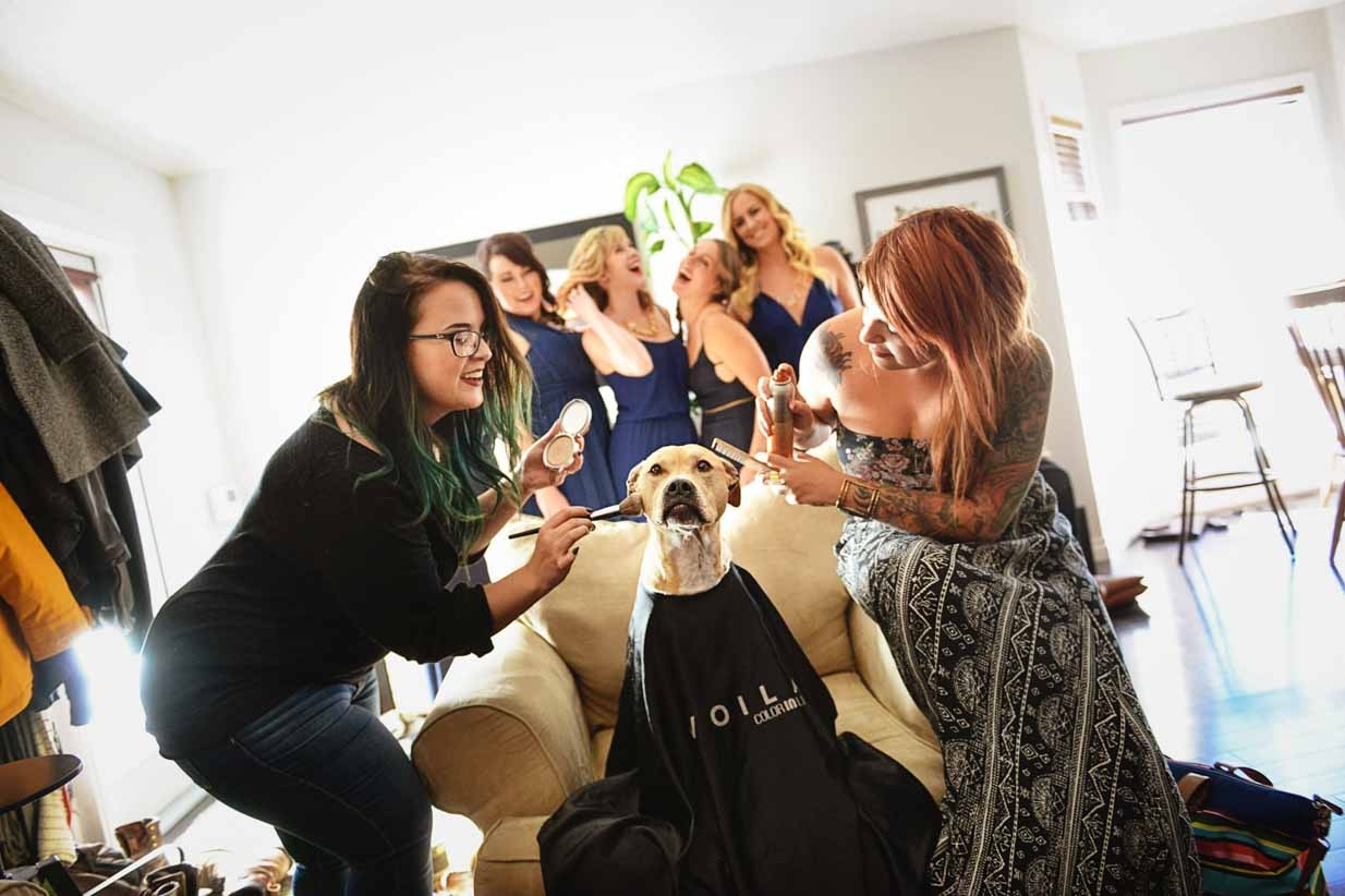 Dog Spa Bridesmaid | Destination Wedding Photographer | SLIVER Photography