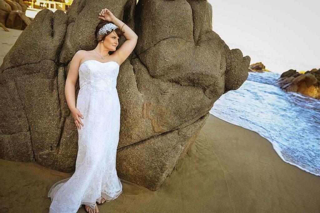 Beach Bride Redhead   Destination Wedding Photographer   SLIVER Photography