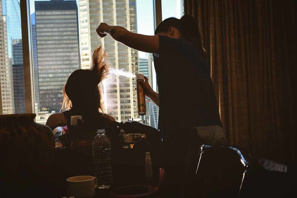 Hair Spray | Destination Wedding Photographer | SLIVER Photography