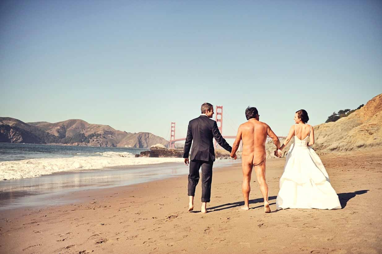 Baker Beach wedding Naked Ass man | Destination Wedding Photographer | SLIVER Photography