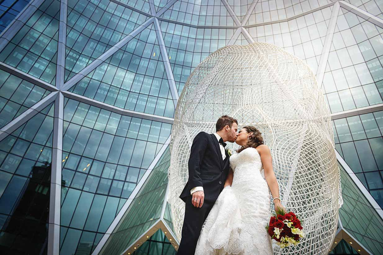 Calgary The Bow | Destination Wedding Photographer | SLIVER Photography