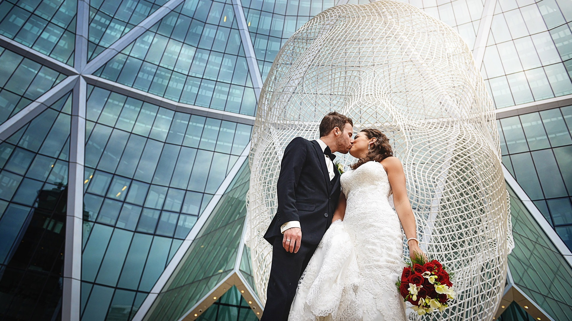 Calgary Wedding Photographer | SLIVER Photography | The Bow Building